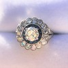 1.88ctw Diamond and Sapphire Double Halo Cluster 53