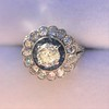 1.88ctw Diamond and Sapphire Double Halo Cluster 39