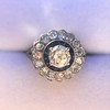1.88ctw Diamond and Sapphire Double Halo Cluster 51