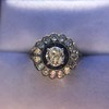 1.88ctw Diamond and Sapphire Double Halo Cluster 21