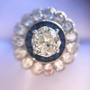 1.88ctw Diamond and Sapphire Double Halo Cluster 11