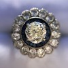 1.88ctw Diamond and Sapphire Double Halo Cluster 12