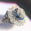 1.88ctw Diamond and Sapphire Double Halo Cluster 42