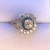 1.88ctw Diamond and Sapphire Double Halo Cluster 52