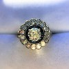 1.88ctw Diamond and Sapphire Double Halo Cluster 36