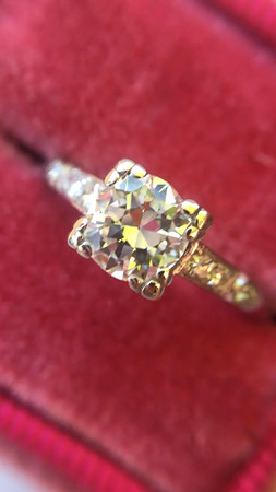 .50ct Transitional Cut Diamond Art Deco Solitaire