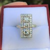 2.40ctw Art Deco Old European Cut Diamond Geometric Dinner Ring 16