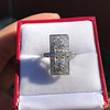 2.40ctw Art Deco Old European Cut Diamond Geometric Dinner Ring 15