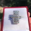 2.40ctw Art Deco Old European Cut Diamond Geometric Dinner Ring 21