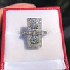 2.40ctw Art Deco Old European Cut Diamond Geometric Dinner Ring 9