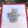 2.40ctw Art Deco Old European Cut Diamond Geometric Dinner Ring 25