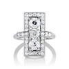 2.40ctw Art Deco Old European Cut Diamond Geometric Dinner Ring 6