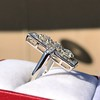 2.40ctw Art Deco Old European Cut Diamond Geometric Dinner Ring 22