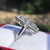 2.40ctw Art Deco Old European Cut Diamond Geometric Dinner Ring 26