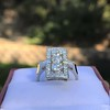 2.40ctw Art Deco Old European Cut Diamond Geometric Dinner Ring 18