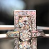 2.40ctw Art Deco Old European Cut Diamond Geometric Dinner Ring 29