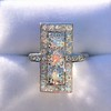 2.40ctw Art Deco Old European Cut Diamond Geometric Dinner Ring 24