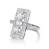 2.40ctw Art Deco Old European Cut Diamond Geometric Dinner Ring 1