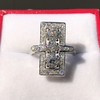 2.40ctw Art Deco Old European Cut Diamond Geometric Dinner Ring 23