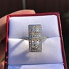 2.40ctw Art Deco Old European Cut Diamond Geometric Dinner Ring 14