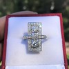 2.40ctw Art Deco Old European Cut Diamond Geometric Dinner Ring 13