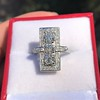 2.40ctw Art Deco Old European Cut Diamond Geometric Dinner Ring 7