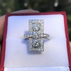 2.40ctw Art Deco Old European Cut Diamond Geometric Dinner Ring 12