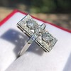 2.40ctw Art Deco Old European Cut Diamond Geometric Dinner Ring 8