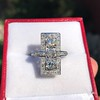 2.40ctw Art Deco Old European Cut Diamond Geometric Dinner Ring 5