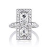 2.40ctw Art Deco Old European Cut Diamond Geometric Dinner Ring 0
