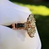 2.35ctw Old Mine and Cushion Cut Victorian Cluster Ring 31