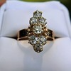 2.35ctw Old Mine and Cushion Cut Victorian Cluster Ring 63