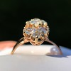 2.35ctw Old Mine and Cushion Cut Victorian Cluster Ring 81
