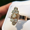 2.35ctw Old Mine and Cushion Cut Victorian Cluster Ring 40