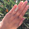 2.35ctw Old Mine and Cushion Cut Victorian Cluster Ring 23
