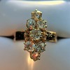 2.35ctw Old Mine and Cushion Cut Victorian Cluster Ring 35