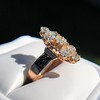2.35ctw Old Mine and Cushion Cut Victorian Cluster Ring 70