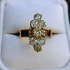 2.35ctw Old Mine and Cushion Cut Victorian Cluster Ring 59