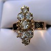 2.35ctw Old Mine and Cushion Cut Victorian Cluster Ring 37