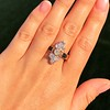 2.35ctw Old Mine and Cushion Cut Victorian Cluster Ring 82