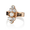 2.35ctw Old Mine and Cushion Cut Victorian Cluster Ring 1