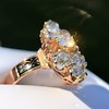 2.35ctw Old Mine and Cushion Cut Victorian Cluster Ring 5