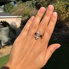 2.35ctw Old Mine and Cushion Cut Victorian Cluster Ring 57
