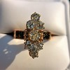 2.35ctw Old Mine and Cushion Cut Victorian Cluster Ring 62