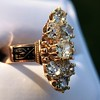 2.35ctw Old Mine and Cushion Cut Victorian Cluster Ring 79