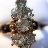 2.35ctw Old Mine and Cushion Cut Victorian Cluster Ring 78