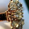 2.35ctw Old Mine and Cushion Cut Victorian Cluster Ring 76