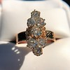 2.35ctw Old Mine and Cushion Cut Victorian Cluster Ring 4
