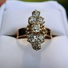 2.35ctw Old Mine and Cushion Cut Victorian Cluster Ring 36