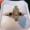 2.35ctw Old Mine and Cushion Cut Victorian Cluster Ring 38